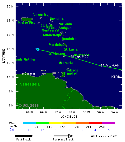 Kirk downgraded to Tropical Depression