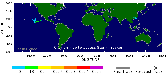 Carte des cyclones