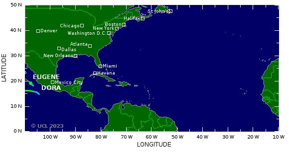 suivi cyclones ocean atlantique nord